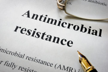 antimicrobial resistance AMR and glasses. Medical concept.