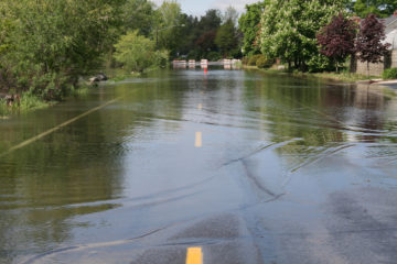 This road was overtaken by the Spokane River, Spring of 2008.